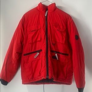 Vintage Guess USA men's red winter coat